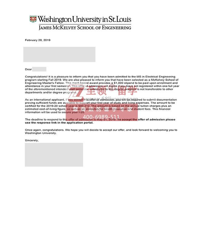 喜迎圣路易斯华盛顿大学WUSTL电子工程EE硕士录取