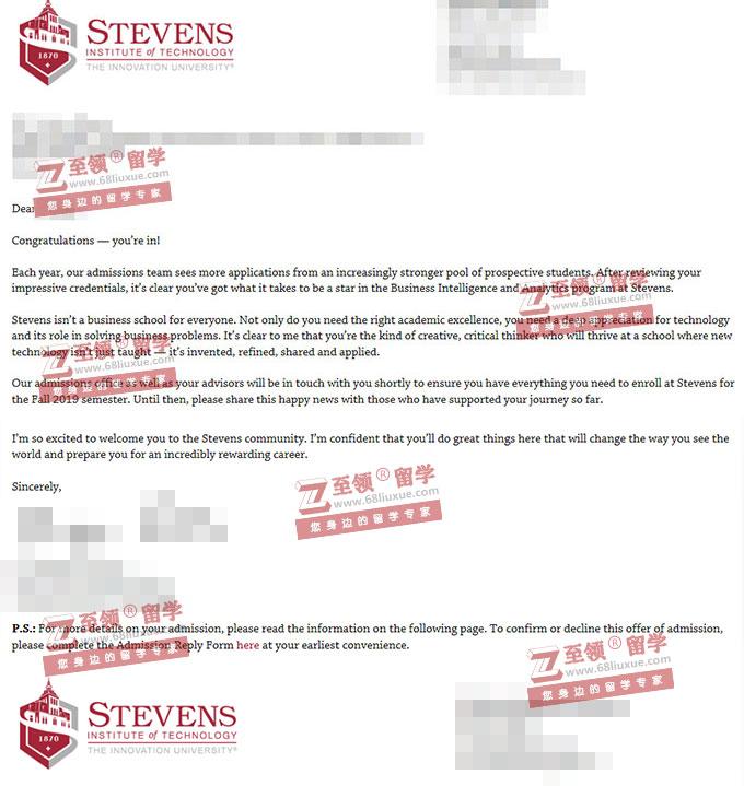 美国斯蒂文斯理工学院商业分析BA硕士录取