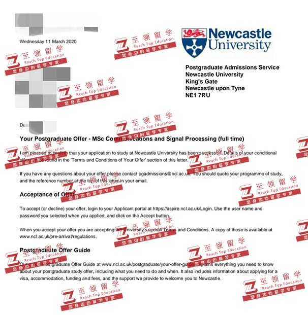 英国纽卡斯尔大学电子工程EE硕士录取